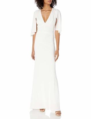 ABS by Allen Schwartz Women's Matte Jersey Gown W/Capelet Sleeves