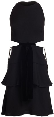 Proenza Schouler Sleeveless Crepe Cutout Dress