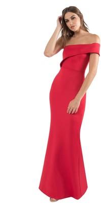 Black Halo Cashmere Gown