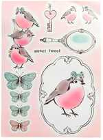 H&M Self-adhesive Wall Decorations - Light pink