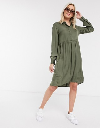 JDY shirt dress in olive