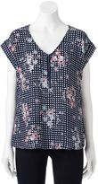My Michelle Juniors' Print Zipper Top