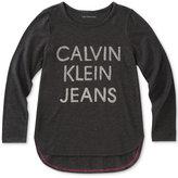 Calvin Klein Graphic-Print T-Shirt, Big Girls (7-16)