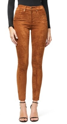 Good American Good Waist Faux Suede Jeans