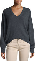 IRO Willy V-Neck Wool Sweater, Anthracite