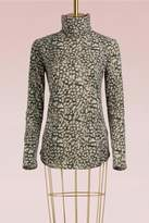 Majestic Filatures Cotton and cashmere leopard Top