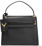 Valentino My Rockstud Large Textured-leather Tote - Black