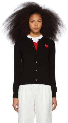 Comme des Garcons Black and Red Heart Cardigan