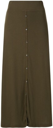 James Perse Ribbed-Knit Midi Skirt