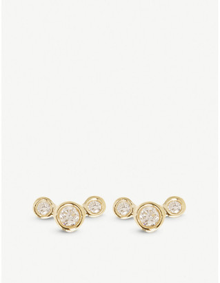 Chicco The Alkemistry Zoë Graduated 14ct yellow-gold and diamond earrings