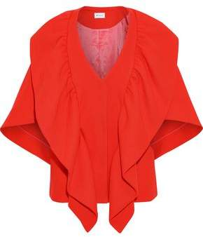 Milly Ruffled Wool-blend Cape