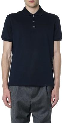 Salvatore Ferragamo Navy Blue Cotton Logo Polo Shirt