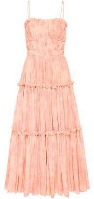 Aje Textural Tiered Midi Dress