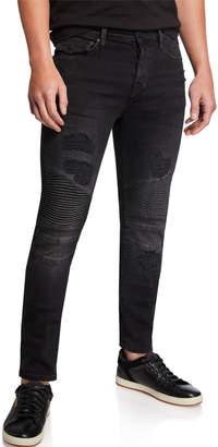 True Religion Men's Rocco Moto Combat Jeans