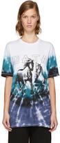 Baja East Multicolor Tie-Dye Horses Logo T-Shirt