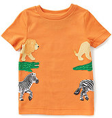 Class Club Adventure Wear by 2T-5 Animal Appliqued Short-Sleeve Tee