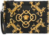 Versace - baroque print clutch bag - men - Polyamide - One Size