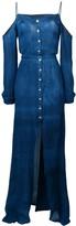 Balmain button-down maxi dress