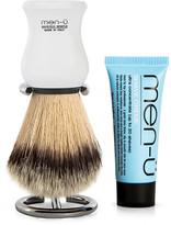 Men U men-u DB Premier Shave Brush with Chrome Stand - White