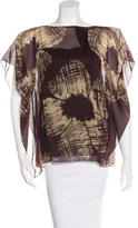 Robert Rodriguez Patterned Silk Blouse