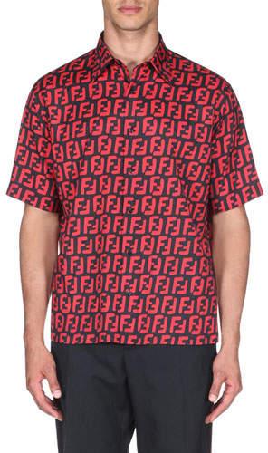 e73d33175b6 Fendi Men s Shortsleeve Shirts - ShopStyle