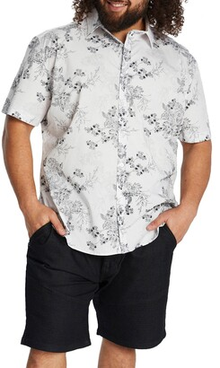 Johnny Bigg Ritchie Floral Short Sleeve Stretch Button-Up Shirt