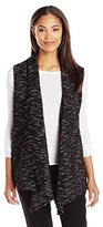 Chaus Women's Sleeveless Eyelash Snit Vest