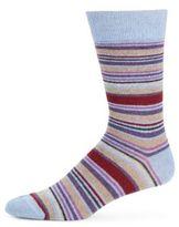 Saks Fifth Avenue Striped Blended Cashmere Socks