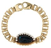 14K Turquoise & Diamond Bracelet