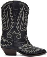 Isabel Marant Black Western Stitch Duerto Boots