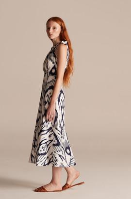Rebecca Taylor Indigo Ikat Linen Dress
