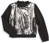 Milly Minis Toddler Girl's Sequin Sweatshirt