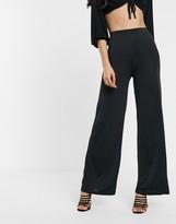 Asos Design DESIGN slinky wide leg pants