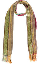 Etro Embroidered Striped Scarf