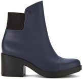 Melissa Women's Elastic Heeled Ankle Boots Blue