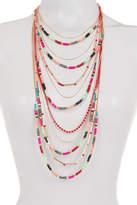 Free Press Multi Row Seed Bead Necklace