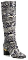 Lanvin Two-Tone Snakeskin Boots