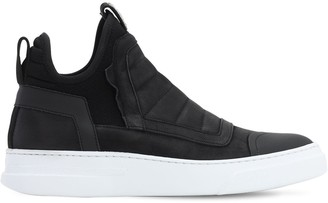 Bruno Bordese Damper Washed Leather High Top Sneakers