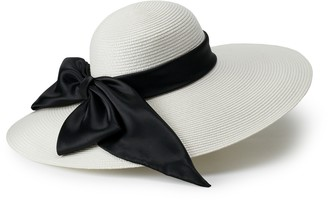 Scala Large Satin Bow Derby Hat