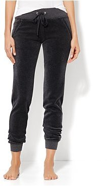 New York & Co. Love, NY&C Collection - Banded-Hem Velour Pant