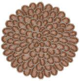 John Lewis Flower Glass Bead Placemat, Pink, Dia.30cm