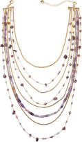 Lydell NYC Mixed Chain & Bead Layered Necklace