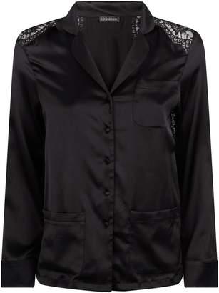 I.D. Sarrieri Silk Lace-TrimPyjama Shirt