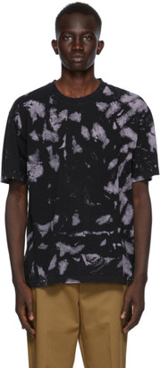Cmmn Swdn Black and Purple Bleach Ridley T-Shirt