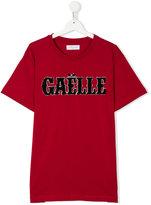 Gaelle Paris Kids T-shirt with appliqué