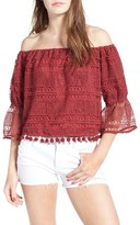 Tularosa Women's Alexa Off The Shoulder Lace Top
