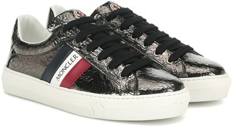 Moncler Ariel cracked leather sneakers