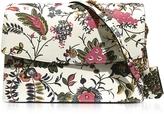 Tory Burch Parker Gabriella Floral Print Leather Large Shoulder Bag