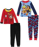 Nickelodeon Paw Patrol Toddler Boys 4 Piece Cotton Pajamas Set ...