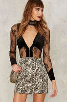 Nasty Gal Collection Constantine Jacquard Mini Skirt